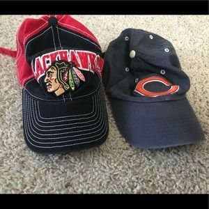 Other - Chicago Bears & Chicago Blackhawks Hats